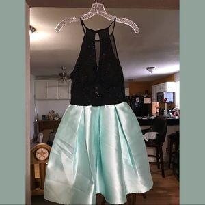 Mint/black dress